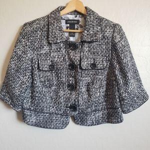 Lane Bryant Tweed Cropped Blazer Jacket Size 14
